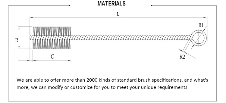Tube Pipe Cleaning Brushes Drawing