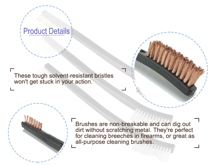 Bronze General Instrument Cleaning Brushes