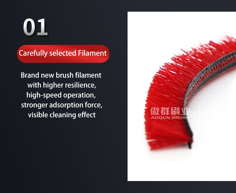 Filaments of Floor Brush For Hand-Held Vacuum Cleaner