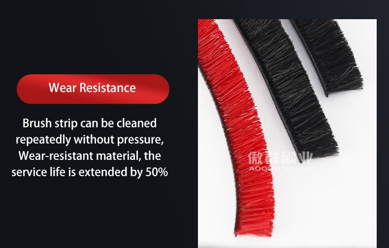 Wear Resistance Floor Brush Strip For Hand-Held Vacuum Cleaner